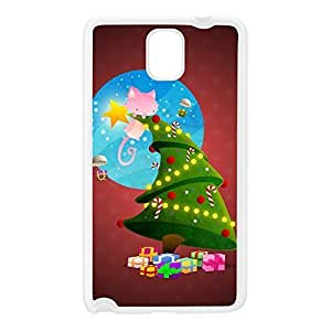 Christmas Tree White Silicon Rubber Case for Galaxy Note 3 by DevilleArt + FREE Crystal Clear Screen Protector