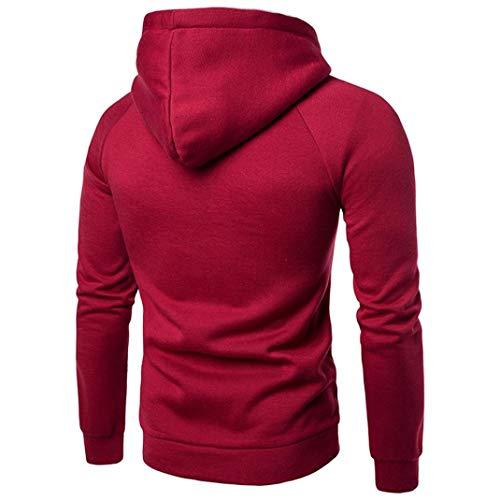 ❤️sweatshirt Tops Amlaiworld Côtelé À Manteau shirt Manche Sweat Pullover Down Outwear Capuche Rouge Jacket En Hommes Pocket Turn Velours With Collar Longue 8fq8r