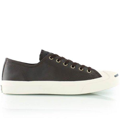 Converse Men's Jack Purcell LTT OX Mole Dark Brown Leather (8.5)