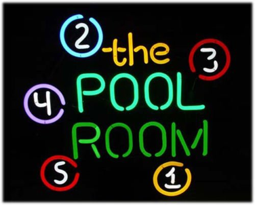 Ball Billiards Neon Sign - Pool Room 8 Ball Billiards neon sign MINT Neon Light Sign Real Glass Tube Beer Bar Pub Neon Light Sign Handicrafted 19x15