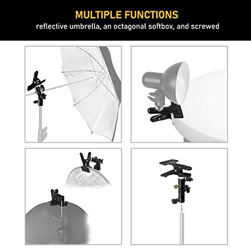 Julius Studio [2 Pack] Reflector Stand Holder Light Stand Bracket Mount Umbrella Bracket Photography Studio Heavy Duty Metal Clamp Holder for Reflector, JSAG238