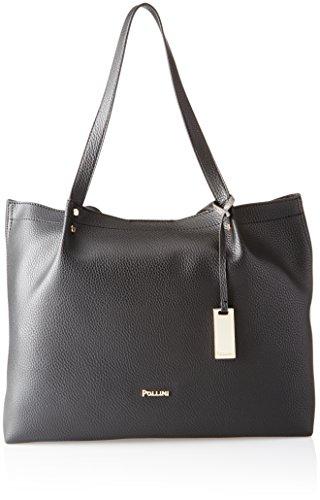Pollini Bag, Borsa a Mano Donna, Nero, 38 x 14 x 29 cm (B x H x T)