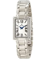 Bulova Womens 96R160 Classic Rectangle Bracelet Watch