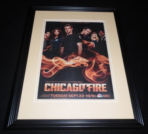 chicago-fire-2014-nbc-framed-11x14-original-advertisement-taylor-kinney
