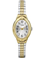 Timex Women's T2N980GP Dress Classic Pearl Dial and Silver Gold Expansion Band