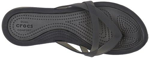Crocs - Damen Isabella Wedge Flip Sandalen Black/Black