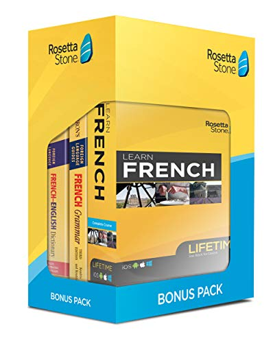 Learn French: Rosetta Stone Bonus Pack (Lifetime Online Access + Book Set)