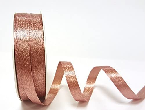 Rose Gold Sparkle Satin 10mm Ribbon by Berties Bows Ribbon on a 20m Roll