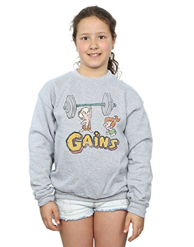 (The Flintstones Girls Bam Bam Gains Distressed Sweatshirt 9-11 Years Sport)