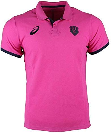 Stade Francais Rugbyメディアポロ2017 – スポーツピンク  Small