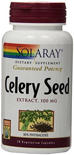 Solaray Celery Seed Extract Vegetarian Capsules, 100 mg, 30 Count