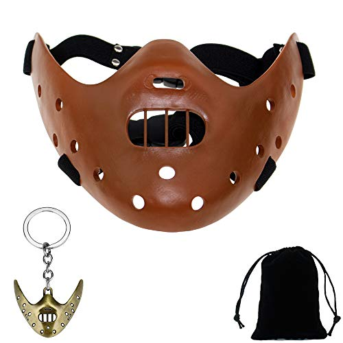 Youshe Coffee Resin Hannibal Lecter Replica Mask with Random Color Mask -