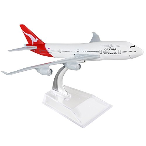 Australia Qantas Boeing 747 16cm Metal Airplane Models Child Birthday Gift Plane Models Home Decoration by HANGHANG