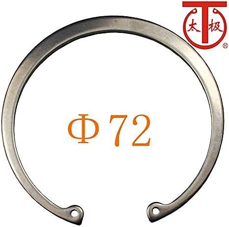25 Pieces//lot - DIN472 Internal Retaining Ring Internal circlips RTW RTW 72 Inner Diameter: 72-420 Ochoos 2Cr13