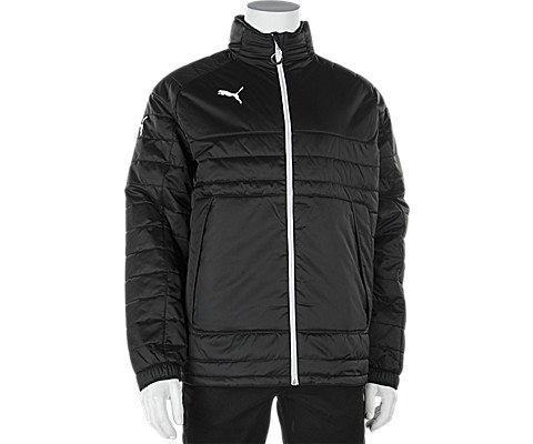 Puma Men's Stadium Jacket, Small, Black-White (Puma Soccer Jacket)
