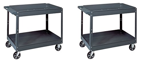 Edsal SC2024 Industrial Gray Commercial Service Cart, Steel, 500lbs Capacity, 24