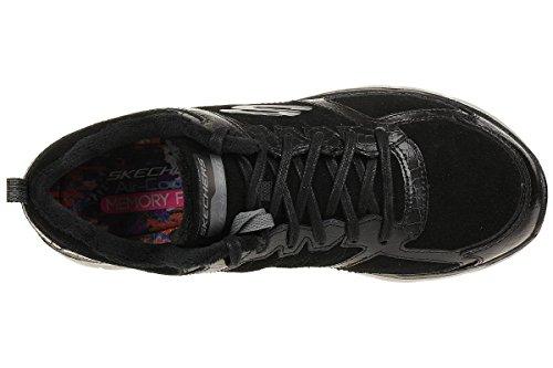 Skechers Flex Appeal 2.0 Soft Shock WomenS Trainers Fitness Lite Black