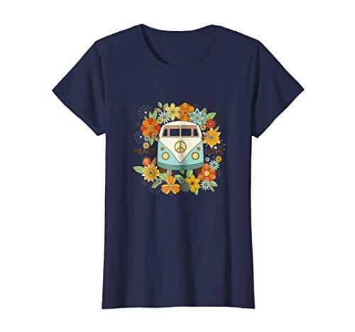 Womens peace and love shirt - hippie van tshirt