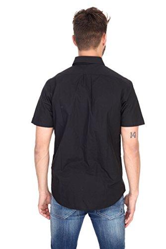 Camicia uomo manica corta Lee nera