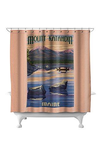Katahdin Cabin - Mount Katahdin, Maine (71x74 Polyester Shower Curtain)