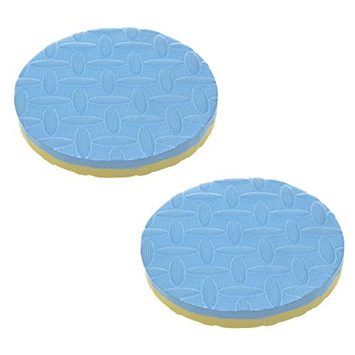 2 pcs Foam Round Yoga Workout Support Pad Cushion Mat For Knee Wrist Elbow