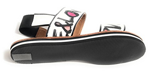 Multi amp; Moschino Strap Sandals Love White Love Peace 2 White wzIxWq1dP