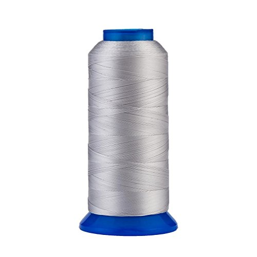 Selric [1500Yards / 130g / 30 Colors Available] UV Resistant High Strength Polyester Thread #69 T70 Size 210D/3 for Upholstery, Outdoor Market, Drapery, Beading, Purses, Leather (Silver)