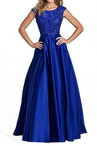 Blau Brau Abendkleider La mia Royal Brautmutterkleider Hochwertig Satin Partykleider Abschlussballkleider Promkleider Pailletten P5xUqZ