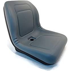 New Grey HIGH BACK SEAT for Hustler ZTR Zero Turn Lawn Mower Garden Tractor by The ROP Shop
