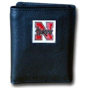 NCAA Nebraska Cornhuskers Leather Tri-Fold Wallet