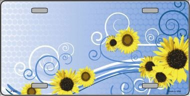 elty License Plate LP-2341 (Blonder Home Sunflowers)