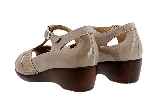 Visón Semelle Piesanto Confortables Amples Femme Chaussure Cuir Sandales 1160 Confort En À Amovible 77Frw8q