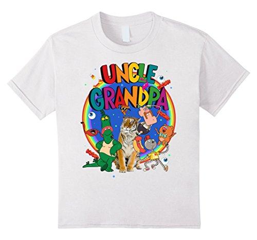 Kids CN Uncle Grandpa The Whole Crew Logo Rainbow Graphic T-Shirt 6 (Grandpa Kids T-shirt)