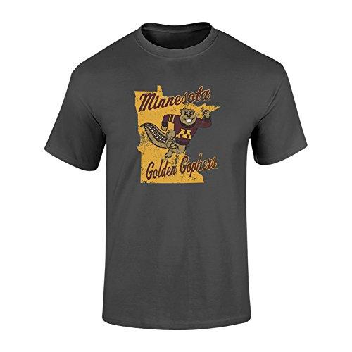 Minnesota Golden Gophers TShirt Heather Gray - XL - Charcoal