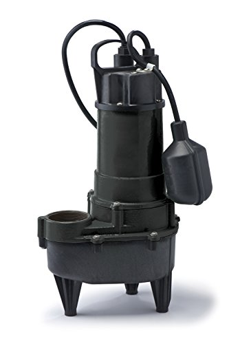 ECO-FLO Products RSE50W Cast Iron Sewage Pump with Wide Angle Switch, 1/2 HP, 5,700 GPH by ECO-FLO Products