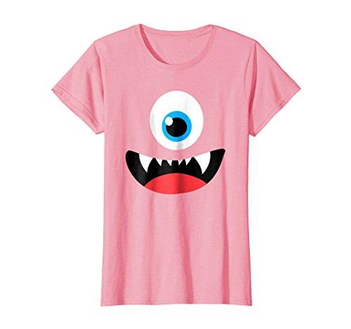 Womens Funny Scary Monster Costume Halloween Shirt Medium Pink