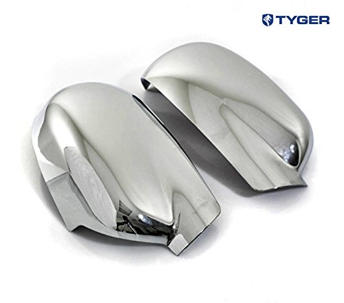 Tyger ABS Triple Chrome Plated A Pair Mirror Covers Fits 02-09 Chevy Trailblazer/GMC Envoy