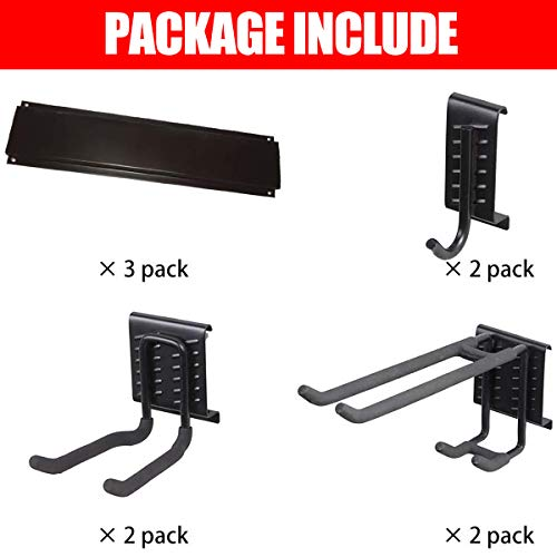 Ultrawall Garage Wall Organizer,9PC Garage Tool Hooks,Garden Tool Storage Rack