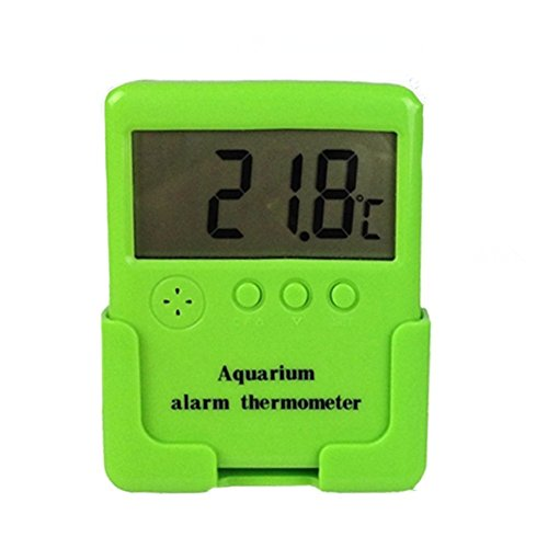 NICREW Aquarium Digital Temp Alert, LCD Digital Thermometer with C/F Switch, Temperature Alarm for Fish Tank