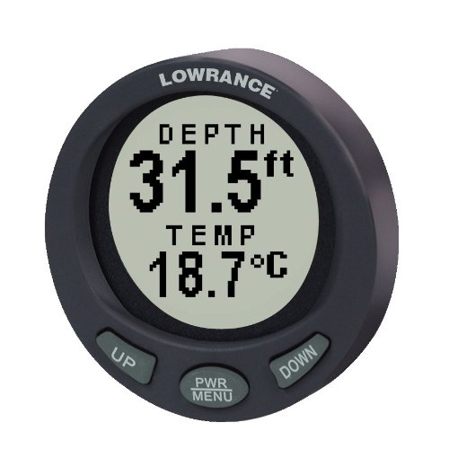 Lowrance LST-3800 2-1/8 Inch In-Dash Depth and Temperature Gauge with 200KHz Transom Mount Transducer
