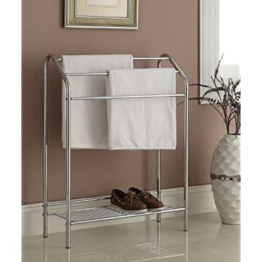 Chrome Finish Towel Bathroom Rack Stand Shelf