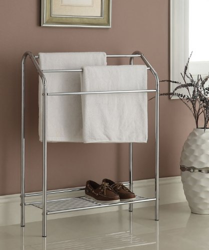 Chrome Finish Towel Bathroom Rack Stand (Towel Rack Finish)