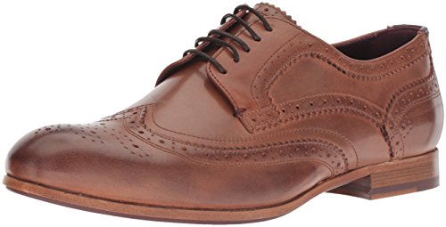 Ted Baker Men's CAMYLI Oxford, tan Leather, 10.5 M US (Print Baker Dress Ted)