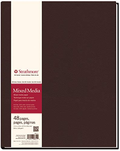 """Strathmore (566-11 STR-566-11 48 Sheet No 90 Mixed Media Art Journal, 11 by 14"""", 11"""" x 14"""", 24 from Strathmore"""