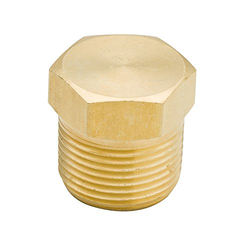 Legines Brass Pipe Fitting , Solid Hex Head Plug, 1/8