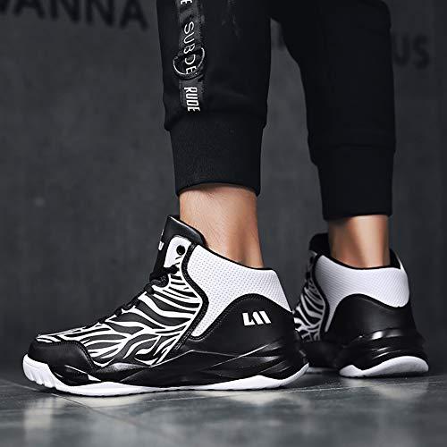 Zapatillas De Confort Antideslizante Baloncesto Dibujantes Primavera Otoño Pu Impacto White Resistencia Al Unisex BBqdarw