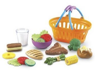 Play Basket Dinner Foods (Game / Play Learning Resources New Sprouts Dinner Basket, learning resources new sprouts, learning Toy / Child / Kid)