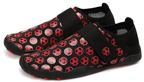 Lingtom Water Shoes Uomo Donna Sport Sneakers Leggero A Piedi Nudi Scarpe Quick Dry Per La Corsa In Palestra E Il Nuoto Rosso / Nero