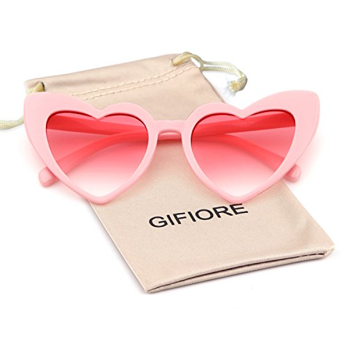 Clout Goggle Heart Sunglasses Vintage Cat Eye Mod Style Retro Kurt Cobain Glasses -