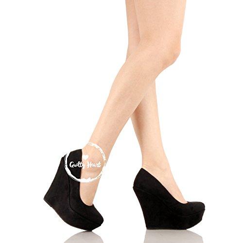 68bd82b00219 Jual Delicacy Trendy-33 Slip On Platform High Heel Wedge Pump Shoes ...